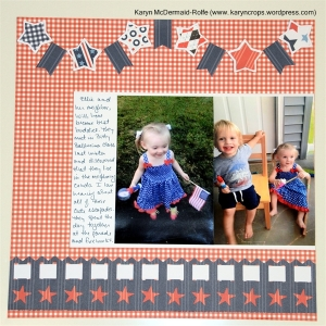 Red, White & Blue Paper Pack with Border Maker and Star Cartridge and Picket Fence Cartridge
